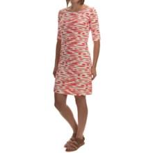 Yala Renee Dress - Scoop Neck, Elbow Sleeve (For Women) in Mandarin Brush - Overstock