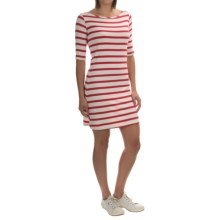 Yala Renee Dress - Scoop Neck, Elbow Sleeve (For Women) in Wide Poppy/Natural - Overstock