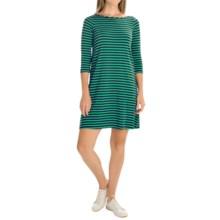 Yala Rita Striped Dress - 3/4 Sleeve (For Women) in Kelly/Navy - Overstock