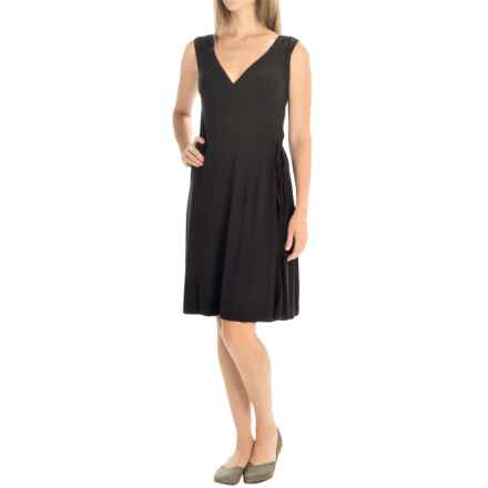 Yala Skylar Wrap Dress - Sleeveless (For Women) in Black - Closeouts