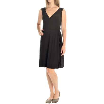 Yala Skylar Wrap Dress - Sleeveless (For Women) in Black - Closeouts