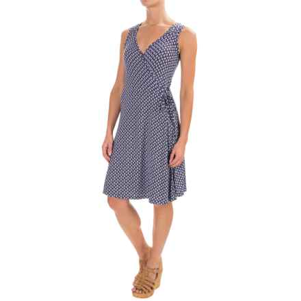 Yala Skylar Wrap Dress - Sleeveless (For Women) in Navyoasis - Closeouts