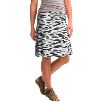 Yala Staci Skirt - Stretch Viscose (For Women) in Black Brushstroke - Closeouts