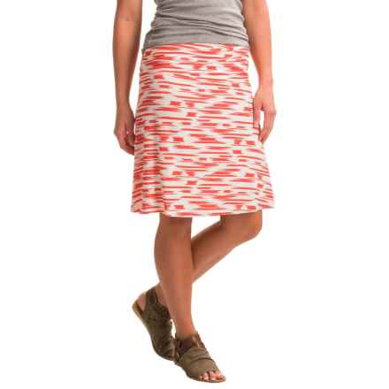 Yala Staci Skirt - Stretch Viscose (For Women) in Mandarin Brushstroke - Closeouts