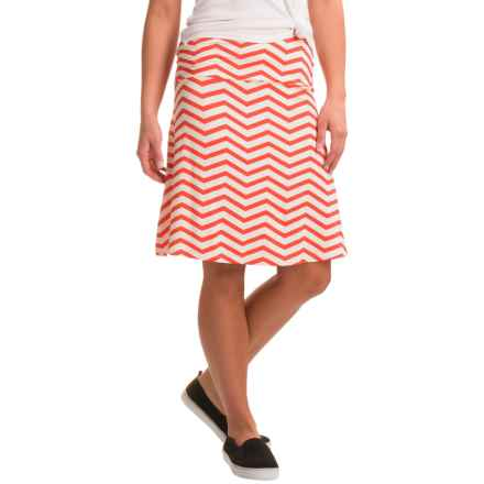 Yala Staci Skirt - Stretch Viscose (For Women) in Mandarin Chevron - Closeouts