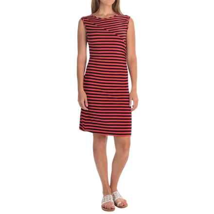 Yala Susie Bodycon Dress - Sleeveless (For Women) in Mandarin/Navy - Overstock