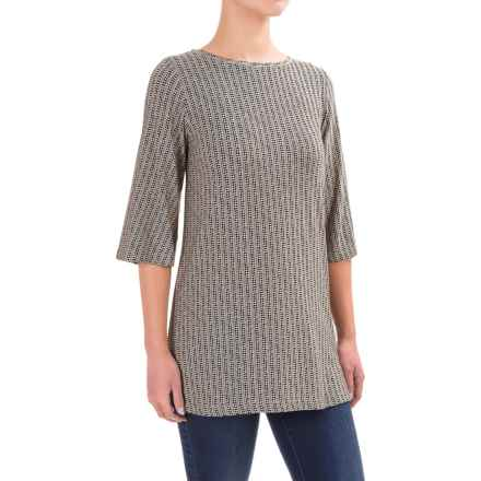 Yala Trixie Shirt - 3/4 Sleeve (For Women) in Black Staccato - Closeouts