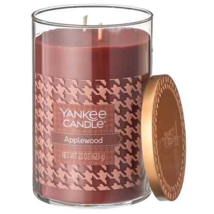 Yankee Candle Applewood Fall Favorites Collection Candle - 2-Wick, 22 oz. in Dark Red - Closeouts