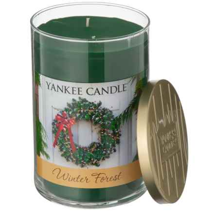 Yankee Candle Winter Forest Wreath Collection Candle - 2-Wick, 22 oz. in Dark Green - Closeouts