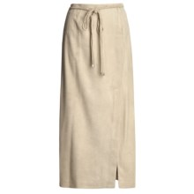 Yansi Fugel Moleskin Faux-Wrap Skirt - Braided Belt (For Women) in Beige - Closeouts