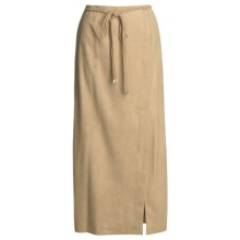 Yansi Fugel Moleskin Faux-Wrap Skirt - Braided Belt (For Women) in Sandstone - Closeouts