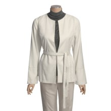 Yansi Fugel Moleskin Nailhead Jacket - Belted (For Women) in Atrium White - Closeouts