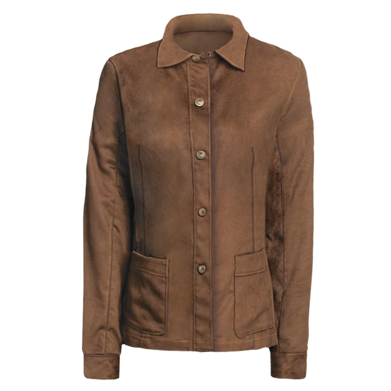 yansi fugel moleskin shirt jacket adjustable for women