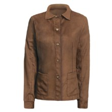 Yansi Fugel Moleskin Shirt Jacket - Adjustable (For Women) in Nutmeg - Closeouts