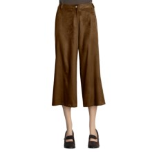 Yansi Fugel Moleskin Split Skirt (For Women) in Nutmeg - Closeouts