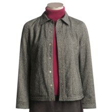 Yansi Fugel Tweed-Moleskin Jacket - Reversible (For Women) in Black/White R/Black - Closeouts
