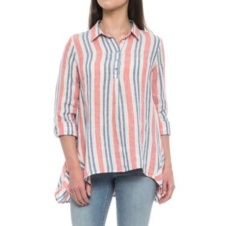 Yarn-Dyed Stripe Popover Shirt - Linen, Long Sleeve (For Women)