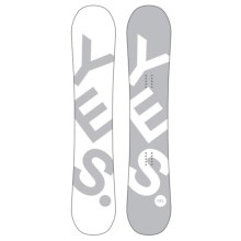 YES Basic Snowboard in 150 White/Grey W/Dark Grey/White Bottom - Closeouts