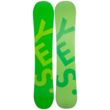 YES Basic Snowboard in 159Xl Green/Lime Green W/Light Green/Dark Green - Closeouts