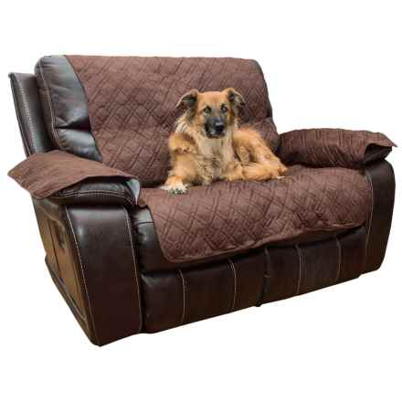 Yes Pets Quilted Microsuede Loveseat Sofa Cover in Bark - Closeouts