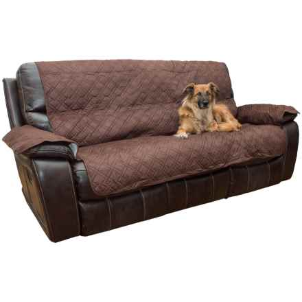 Yes Pets Quilted Microsuede Sofa Cover - Microfiber in Bark - Closeouts