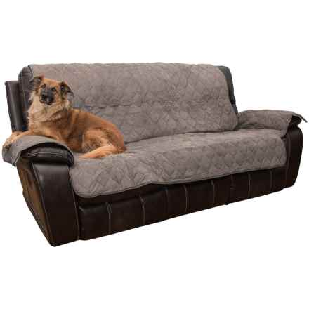 Yes Pets Quilted Microsuede Sofa Cover - Microfiber in Charcoal - Closeouts