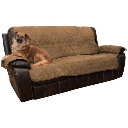Yes Pets Quilted Microsuede Sofa Cover - Microfiber in Driftwood - Closeouts