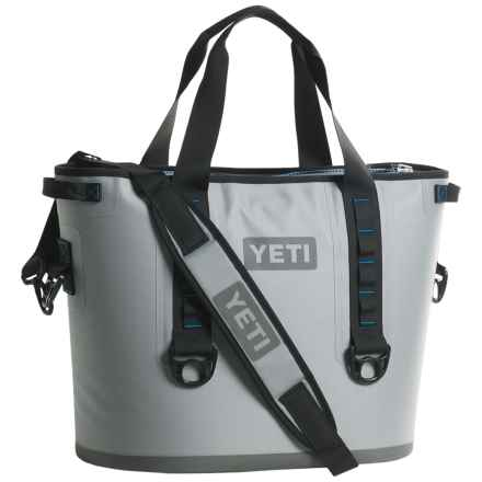 Yeti Hopper 30 Cooler in Fog Gray/ Tahoe Blue - Closeouts