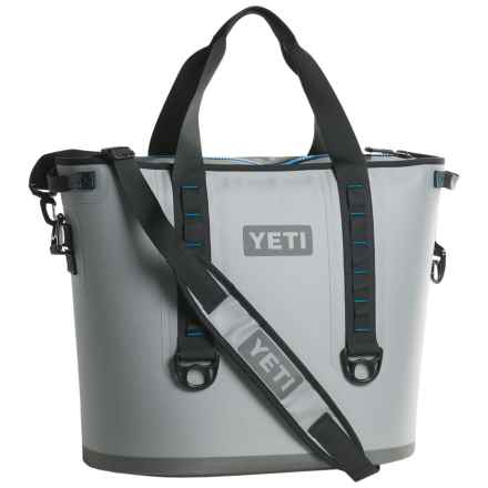 Yeti Hopper 40 Cooler in Fog Gray/ Tahoe Blue - Closeouts
