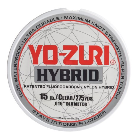 Yo-Zuri Hybrid Clear Fishing Line - 15 lb., 275 yds. in Clear