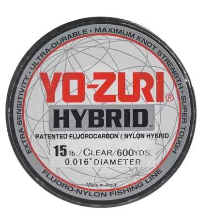 Yo-Zuri Hybrid Clear Fishing Line - 600 yds., 15 lb. in Clear - Closeouts