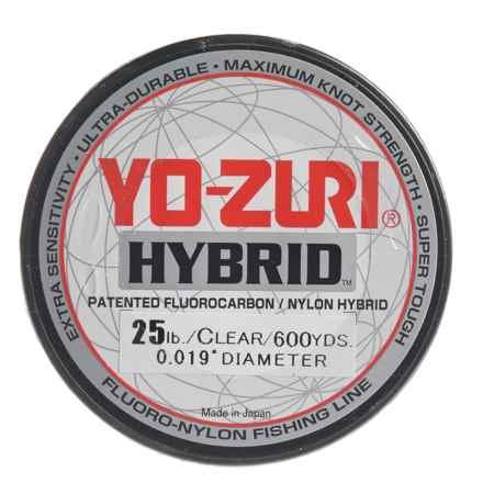 Yo-Zuri Hybrid Clear Fishing Line - 600 yds., 25 lb. in Clear - Closeouts
