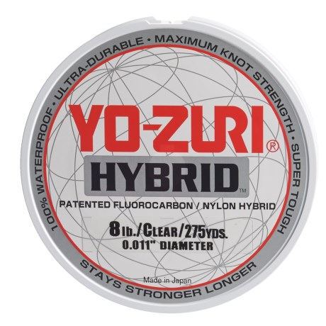 Yo-Zuri Hybrid Clear Fishing Line - 8 lb., 275 yds. in Clear