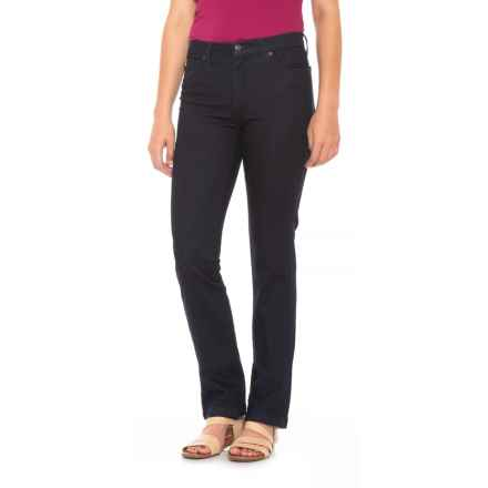 Yoga Jeans Classic High-Rise Straight-Leg Jeans (For Women) in Lagoon - Closeouts