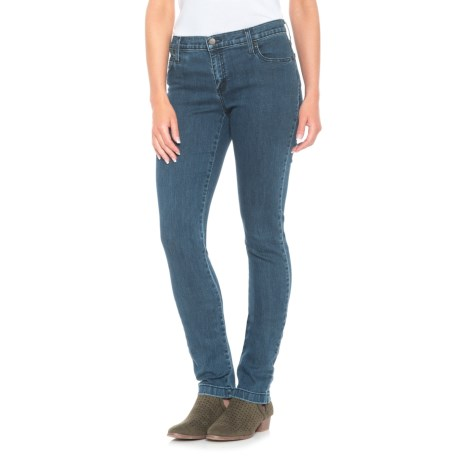 Yoga Jeans Classic Mid-Rise Skinny Jeans (For Women) in Medium Wash