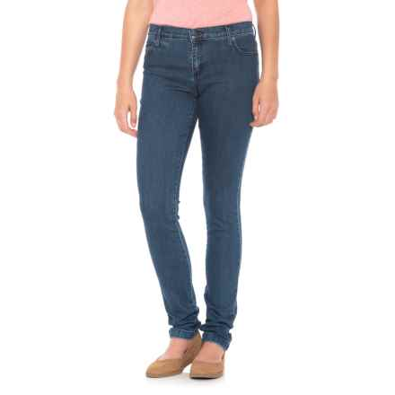 Yoga Jeans Mid-Rise Skinny Jeans (For Women) in Medium Wash - Closeouts