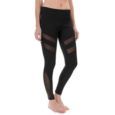 Yogalicious Angular Leggings (For Women) in Black/Black - Closeouts
