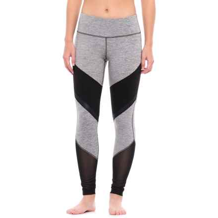 Yogalicious Color-Block Leggings (For Women) in Heather Light Grey/Black - Closeouts