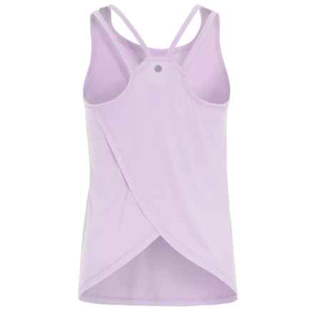 Yogalicious Cross-Back Tank Top (For Big Girls) in Lilac - Closeouts