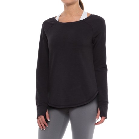 Yogalicious High-Low Shirt - Long Sleeve (For Women) in Black
