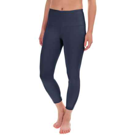 Yogalicious High-Waist Capris (For Women) in Navy - Closeouts