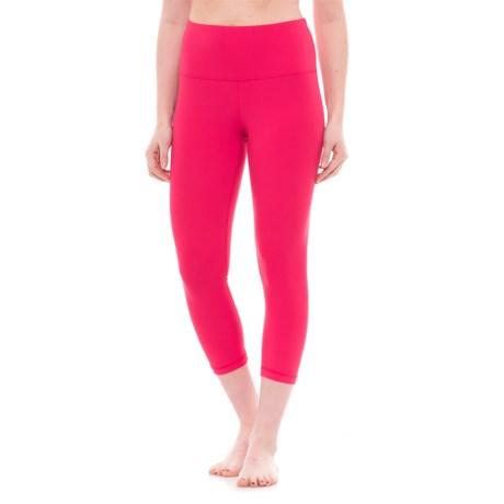 Yogalicious High-Waist Capris (For Women) in Raspberry Jam