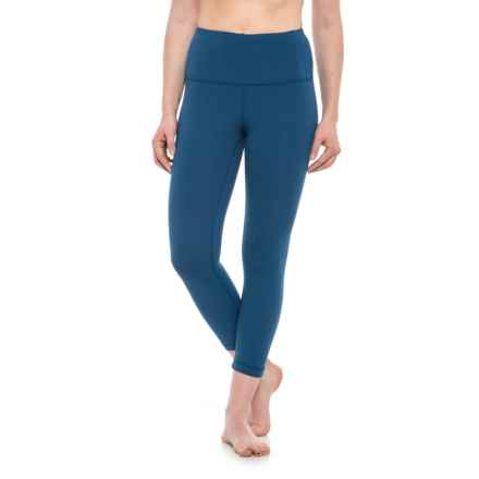 Yogalicious High-Waist Capris (For Women) in Winter Blue - Closeouts