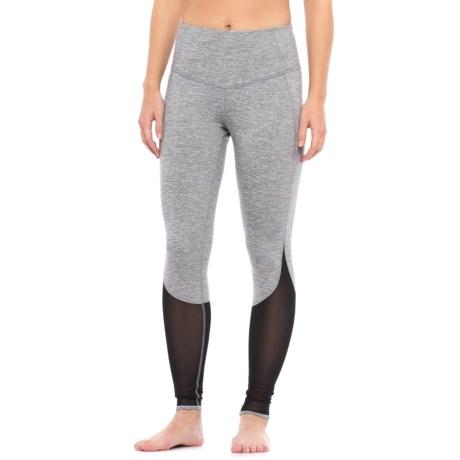 Yogalicious High-Waist Leggings (For Women) in Heather Light Grey/Black