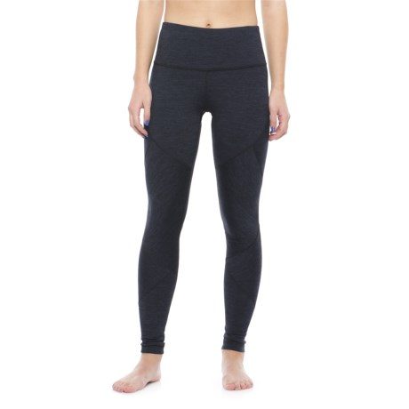 Yogalicious High-Waist Patchwork Leggings (For Women) in Heather Navy