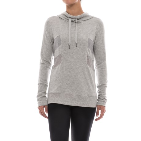 Yogalicious Hoodie (For Women) in Heather Grey