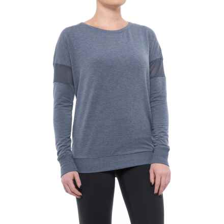 Yogalicious Mesh Band Shirt - Long Sleeve (For Women) in Heather Sailor Blue - Closeouts