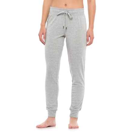 Yogalicious Mesh Side Panel Joggers (For Women) in Heather Grey - Closeouts