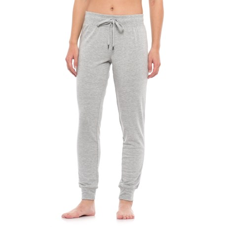 Yogalicious Mesh Side Panel Joggers (For Women) in Heather Grey