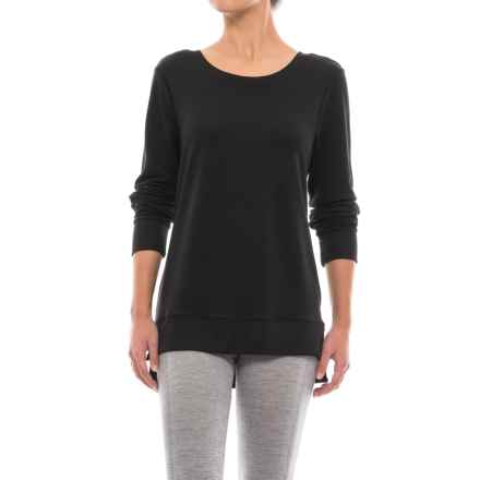 Yogalicious Missy Crisscross Back Shirt - Long Sleeve (For Women) in Black - Closeouts